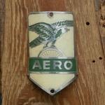Steuerkopfschild  AERO, grün, 30-50er Jahre, Originalschild aus Sammlungsbestand