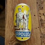 Steuerkopfschild  APOLLO, 30-50er Jahre, Originalschild aus Sammlungsbestand