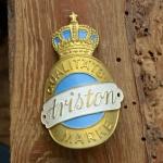 Steuerkopfschild  ARISTON, 30-50er Jahre, Originalschild aus Sammlungsbestand