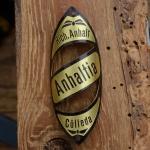 Steuerkopfschild  ANHALTIA, 30-50er Jahre, Originalschild aus Sammlungsbestand