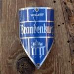 Steuerkopfschild BRANDENBURG, silber, 30-50er Jahre, Originalschild aus Sammlungsbestand