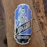 Steuerkopfschild BURGGRAF, Nürnberg, 30-50er Jahre, Originalschild aus Sammlungsbestand