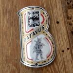 Steuerkopfschild BATAVUS, 30-50er Jahre, Originalschild aus Sammlungsbestand