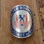 Steuerkopfschild WALTER BORMANN, Neustadt, 30-50er Jahre, Originalschild aus Sammlungsbestand