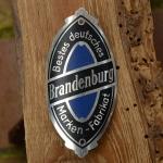 Steuerkopfschild BRANDENBURG, 30-50er Jahre, Originalschild aus Sammlungsbestand