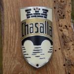 Steuerkopfschild CHASALLA, 30-50er Jahre, Originalschild aus Sammlungsbestand