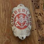 Steuerkopfschild CUMBERLAND, Braunschweig, 30-50er Jahre, Originalschild aus Sammlungsbestand