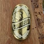 Steuerkopfschild CORNELIA, 30-50er Jahre, Originalschild aus Sammlungsbestand