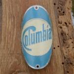 Steuerkopfschild COLUMBIA, 30-50er Jahre, Originalschild aus Sammlungsbestand