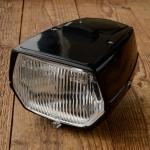 Scheinwerfer Moped, schwarz für Tachoeinbau VDO geeignet, mit Schalter, passend f. viele Mofas