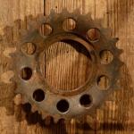 Kettenrad für Motorfahrrad, NSU Quick, rare alte Neuware, 28 Z., Gewinde ca. 53,5 mm