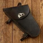 Werkzeugtasche Ordonnanzrad (zivile Ausführung) , Leder, braun, auch für 74/98er passend, orig.  30-50er Jahre, altersbed.  Patina