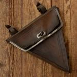 """Werkzeugtasche Herren """"BRENNABOR"""" , geprägtes Leder, braun, orig. 10er Jahre, altersbed.  Patina"""
