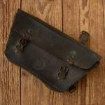 """Werkzeugtasche Herren """"Wittkop"""" geprägtes Leder, braun, orig. 30er Jahre, passend f. Motorfahrrad, altersbed.  Patina"""