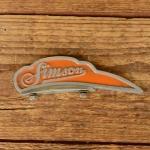 Schutzblechfigur SIMSON, orange, Zustand s. Bild