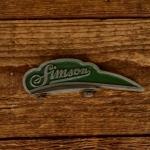 Schutzblechfigur SIMSON, grün, Zustand s. Bild