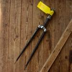 """Gabel 26""""orig. 50er J. unrestauriert, Schaftlänge 181 mm, Scheidenlänge 365 mm, Weite oben 53 mm, Zustand siehe Bilder"""