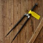 """Gabel 28""""orig. 30er J. unrestauriert, Schaftlänge 200 mm, Scheidenlänge 394 mm, Weite oben 56 mm, Zustand siehe Bilder"""