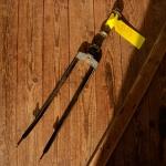 """Gabel 28""""orig. 50er J. unrestauriert, Schaftlänge 210 mm, Scheidenlänge 393 mm, Weite oben 61 mm, Zustand siehe Bilder"""
