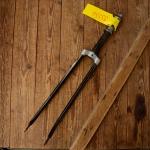 """Gabel 28""""orig. 50er J. unrestauriert, Schaftlänge 215 mm, Scheidenlänge 394 mm, Weite oben 60 mm, Zustand siehe Bilder"""