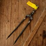 """Gabel 28""""orig. 30-50er J. unrestauriert, Schaftlänge 155 mm, Scheidenlänge 392 mm, Weite oben 60 mm, Zustand siehe Bilder"""