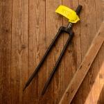 """Gabel 28""""orig. 30-50er J. unrestauriert, Schaftlänge 167 mm, Scheidenlänge 395 mm, Weite oben 61 mm, Zustand siehe Bilder"""