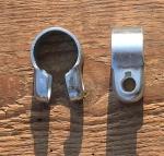 """Lenkerbefestigungsschelle, glanzverzinkt, passend für 22 mm Lenker montiert in 1"""" Gabeln"""