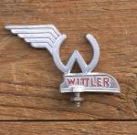 Schutzblechfigur Wittler,  Wittler Werke  Bielefeld, Alu Druckguss, orig. Altbestand 50er Jahre, unbenutzt