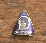 """Steuerkopfschild  """"DÜRKOPP """", 30er Jahre,  blau, Originalschild (alte Neuware!) aus Sammlungsauflösung!"""
