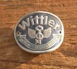 """Steuerkopfschild  """"WITTLER"""", 30/50er Jahre,  Originalschild aus Sammlungsauflösung!"""