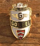 """Steuerkopfschild  """"Goebel"""", Bielefeld 50er Jahre, sehr gut erhaltenes Originalschild! Alte Neuware!"""
