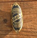 """Steuerkopfschild  """"IDEAL"""", universelle Marke 30- 50er Jahre, sehr gut erhaltenes Originalschild! Alte Neuware!"""