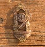 """Steuerkopfschild  """"NAUMANN"""", Dresden 30er Jahre,  gut erhaltenes Originalschild!, gebraucht"""