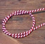 Zierspirale / Bowdenzugummantelung, rot/weiß, 120cm lang, orig. Altbestand
