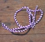 Zierspirale / Bowdenzugummantelung, lila/weiß, 120cm lang, orig. Altbestand