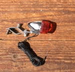 Strebenrücklicht, klein, Kunststoff verchromt, für Bonanza u. Sporträder