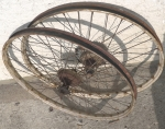 """Laufradsatz Drahtfelge 26 x 2.00"""" (559) , NSU Quickly, alte Ausführung, gebraucht und  unrestauriert"""