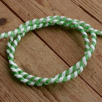 Zierspirale / Bowdenzugummantelung, grün/weiß, 120cm lang, orig. Altbestand