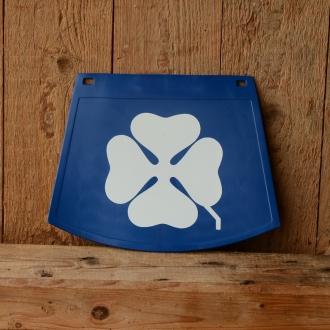Schmutzfänger, blau-weiß, mit Kleeblatt