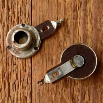 """Fassung f. Glühbirne Frontscheinwerfer, """"ELDI"""", D=14.5mm, leicht konisch, vernickelt, m. Lötfahne"""