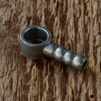 Ringschlauchnippel, Aluminium, Durchmesser 8mm