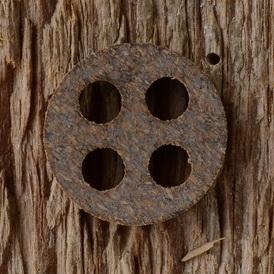 Korkdichtung 17.0 x 2.5 mm, 4-Loch, passend u.a. für die kleinen Karcoma-Hähne und Frankfurter-Modell