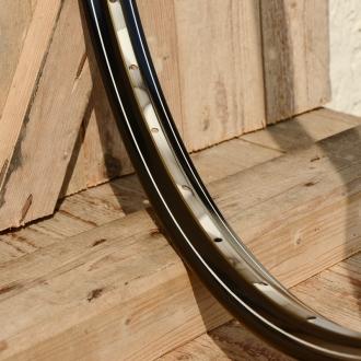 """Fahrradfelge 28"""" x 1,75 (ISO/ETRTO 622mm), Alu, schwarz, 36 Loch, Dek.21 gold gefl. weiss"""