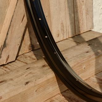 """Fahrradfelge 28"""" x 1,75 (ISO/ETRTO 622mm), Alu, schwarz, 36 Loch, Dek.3 doppelt gold"""
