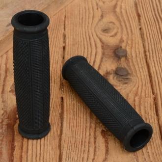 Griffbezug Motorfahrrad, Gummi, schwarz, ballige Form, L: 133 mm, Durchmesser: 28-30 mm, beidseitig offen