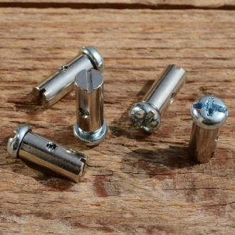 Schraubnippel, D=6.0/2.5mm, L=17mm, Messing vernickelt, FIX Bez. 28
