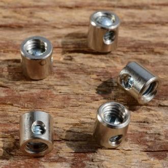 Schraubnippel, D=5.5/2.0mm, L=5.5mm, Messing vernickelt, FIX Bez. 27D