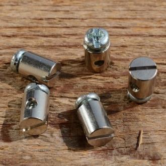 Schraubnippel, D=7.0/2.5mm, L=9mm, Messing vernickelt, FIX Bez. 25