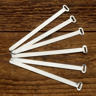 Kabelbinder, ALU, orig. Altbestand 30-60er Jahre, Breite 6mm, Länge 110mm