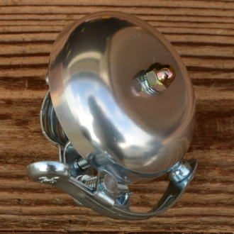 "Glocke ""PING"", für Rennrad/Sportrad, silber, D=57mm"